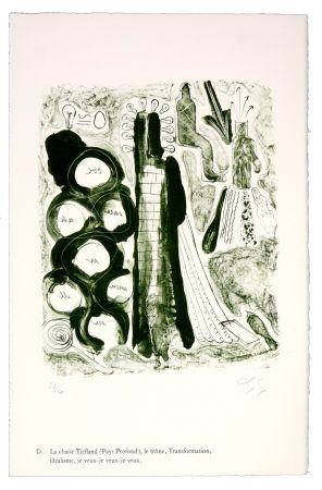 Litografía Nørgaard - D. La chaise Tiefland (Pays profond), le trône, Transformation, idéalisme, je veux-je veux-je veux