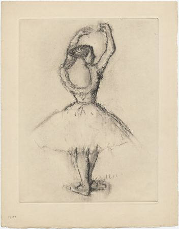 Aguafuerte Degas - Danseuse (étude, vers 1878-1880)
