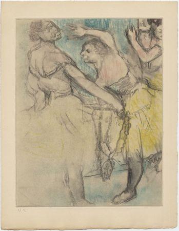 Aguafuerte Y Aguatinta Degas - Danseuses à l'Opéra (étude, vers 1880)