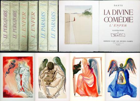 Libro Ilustrado Dali - Dante : LA DIVINE COMÉDIE. 6 volumes. 100 planches couleurs. (1959)