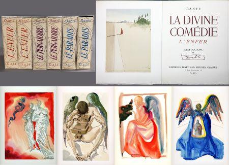 Libro Ilustrado Dali - Dante : LA DIVINE COMÉDIE. 6 volumes. 100 planches couleurs et suites de décompositions de couleurs.(1959)