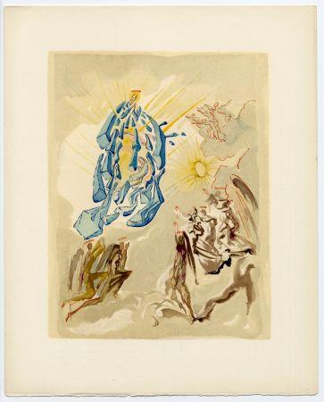 Grabado En Madera Dali - Dante recouvre la vue. La Divine Comédie (Le Paradis, Chant 26)
