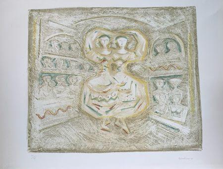 Litografía Campigli - Danzatrici