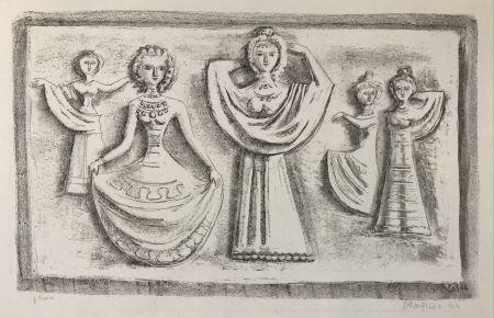 Litografía Campigli - DANZE NOTTURNE