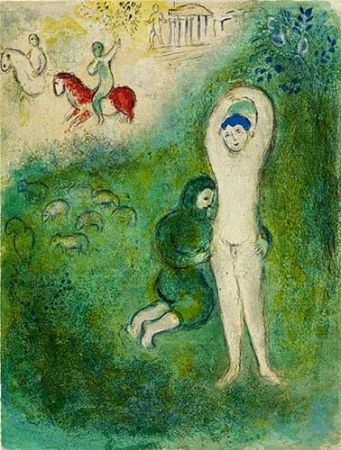 Litografía Chagall - Daphnis et Gnathon