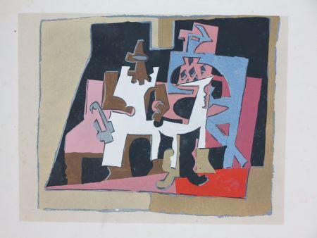 Pochoir Picasso - D'après Pablo Picasso (1881-1973). Intérieur. 1933. Pochoir sur papier.