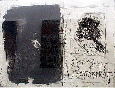 Aguafuerte Y Aguatinta Clavé - D'apres Rembrandt I-I