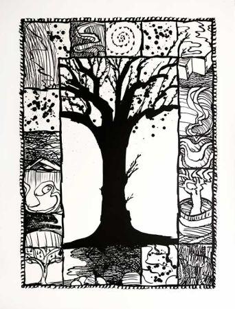 Litografía Alechinsky - D'arbre et d'encre