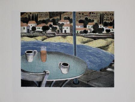 Litografía Breiter - Das Café