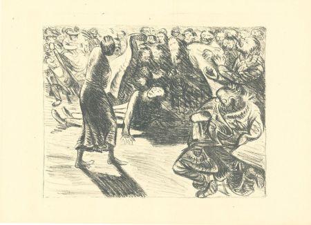 Litografía Barlach - Das Paar in der Menge 2 (Heiliger, Strohbraut und Lumpensack)