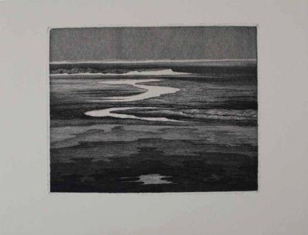 Grabado Friedrich - Das Watt / The Wadden