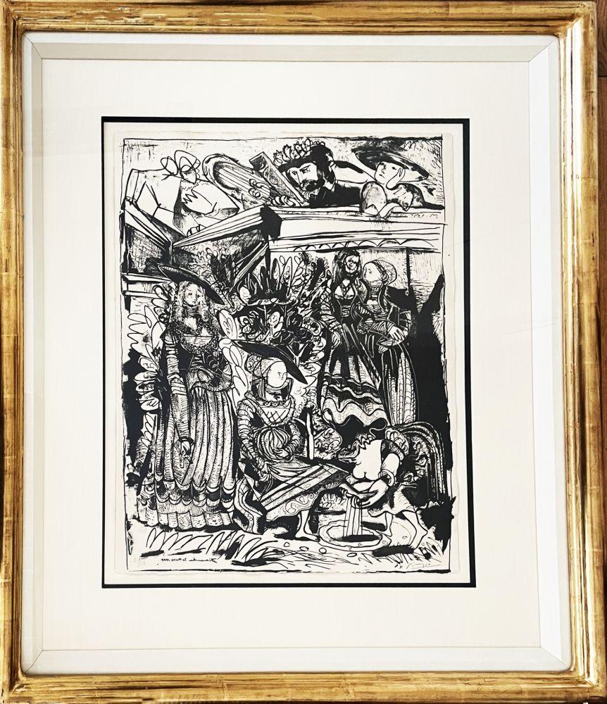 Litografía Picasso - David and Bathsheba (After Lucas Cranach)