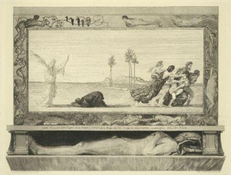 Aguafuerte Y Aguatinta Klinger - Death as Savior, from the portfolio