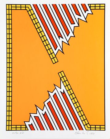 Serigrafía Krushenick - Deep Down Orange