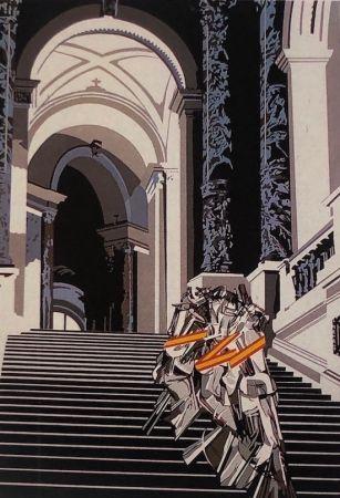 Serigrafía Equipo Cronica - Denudo bajando la escalera (carpeta composiciones)