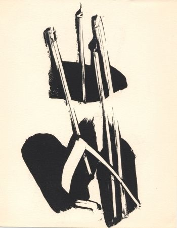 Litografía Soulages - Depaysage
