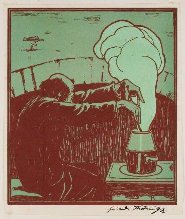 Grabado En Madera König  - Der Alchemist (The Alchemist)