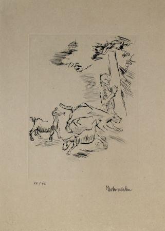 Grabado Kokoschka - Der Beobachter