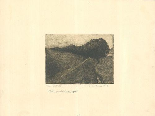 Grabado Philipp - Der Feldweg