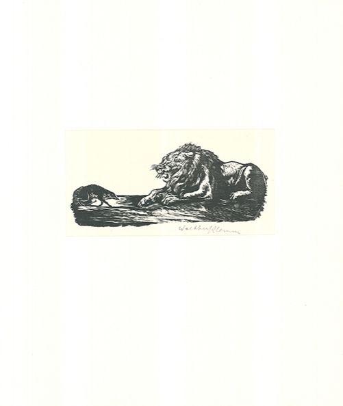 Grabado En Madera Klemm - Der Grosse und der Kleine