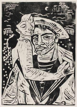 Grabado En Madera Hamerschlag - Der Matrose Girolamo  (The Sailor Girolamo)
