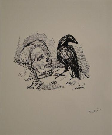 Litografía Kubin - Der Rabe und die Tote