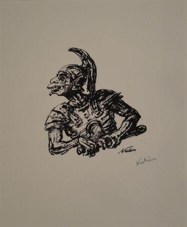 Litografía Kubin - Der Soldat, der Christi Seite durchstach.