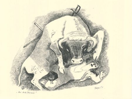 Litografía Geiger - Der tote Torero / The Dead Bullfighter