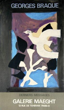 Litografía Braque - Derniers Messages Galerie Maeght