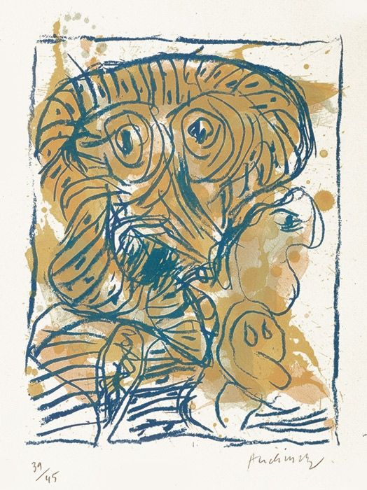 Litografía Alechinsky - Derniers pas