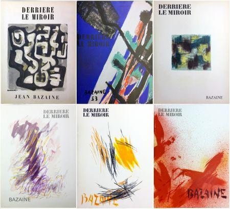 Libro Ilustrado Bazaine - DERRIÈRE LE MIROIR. BAZAINE. Collection complète des 6 volumes de la revue DERRIÈRE LE MIROIR consacrés à Jean Bazaine (parus de 1949 à 1975).