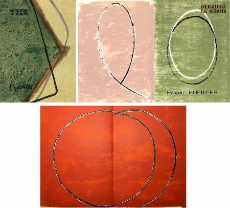 Libro Ilustrado Fiedler - DERRIÈRE LE MIROIR: COLLECTION COMPLÈTE des 4 volumes de la revue  consacrés François Fiedler: 26 LITHOGRAPHIES ORIGINALES (de 1959 à 1974).