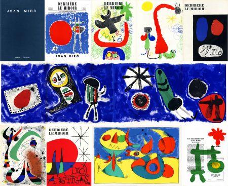 Libro Ilustrado Miró - DERRIÈRE LE MIROIR n° 14-15 (Nov-Décembre 1948) + n° 29-30 (Mai 1950) + n° 57-58-59 (Juin 1953) + n° 87-88-89 MIRO ARTIGAS (Juin-Juillet-Août 1956). 25 LITHOGRAPHIES ORIGINALES. ALBUM MAEGHT ORIGINAL.