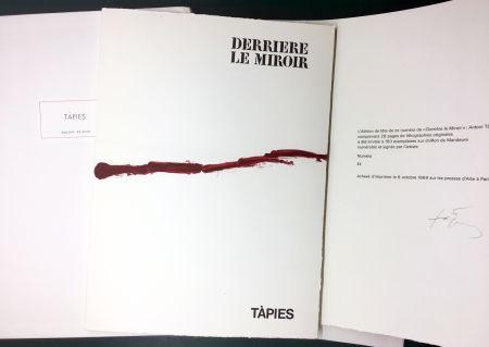 Libro Ilustrado Tàpies - DERRIÈRE LE MIROIR n° 180 . TÀPIES . 1969. TIRAGE DE LUXE SIGNÉ.