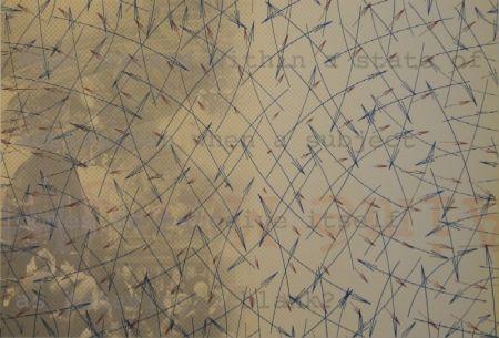 Litografía Arakawa - DERRIÈRE LE MIROIR, No 252. Arakawa.