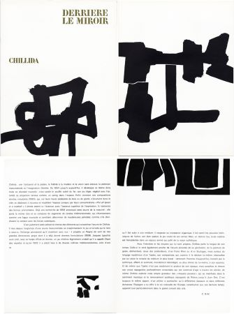 Libro Ilustrado Chillida - Derrière le Miroir n° 143 . CHILLIDA . Avril 1964.