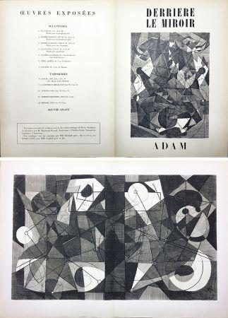 Grabado Adam - Derrière le Miroir n° 24. ADAM .1949. Gravure originale.