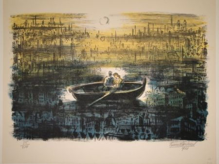 Litografía Masereel - Des amoureux