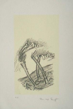 Litografía Ernst - Desert plisses
