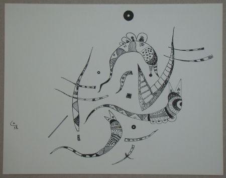 Litografía Kandinsky - Dessin à la plume, 1938