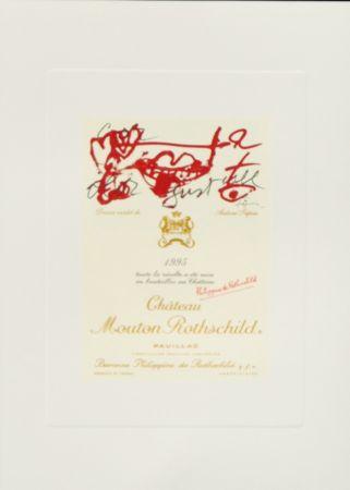 Litografía Tàpies -  Dessin inedite de Antoni Tapies