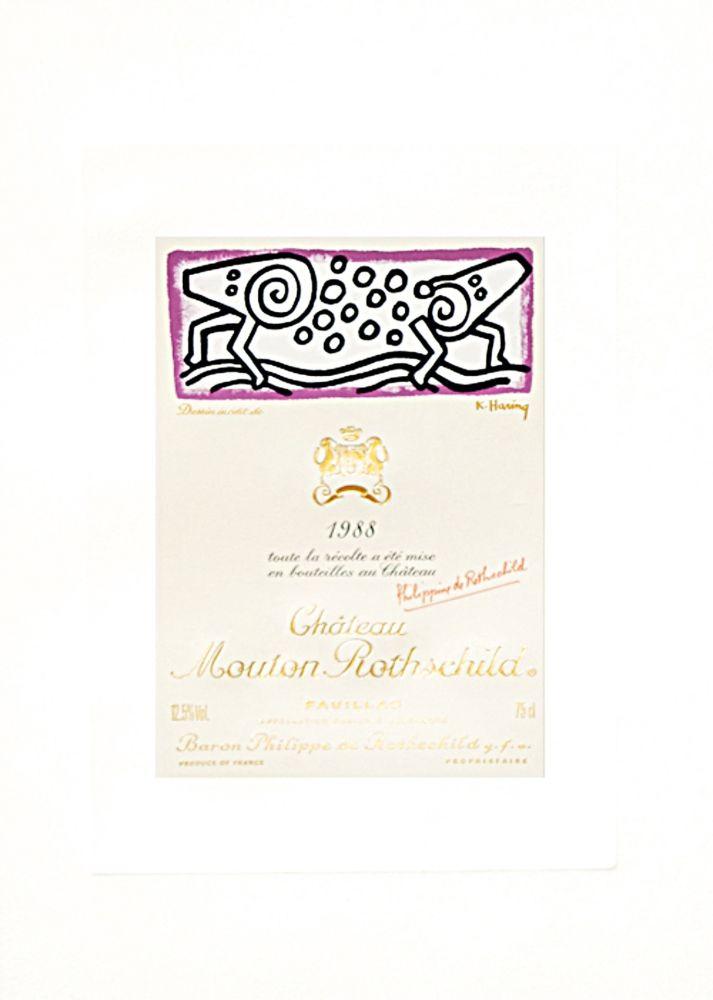 Litografía Haring - Dessin Inedite de Keith Haring