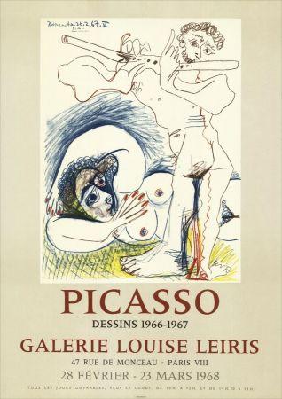 Litografía Picasso - Dessins 1966-67 à la Galerie Louise LEIRIS