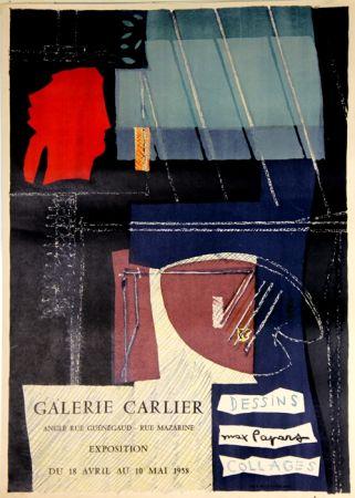 Litografía Papart - Dessins Collages  Galerie Carlier