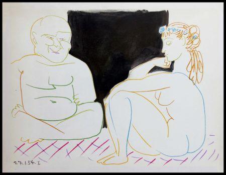 Litografía Picasso (After) - DESSINS DE VALLAURIS XI