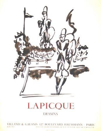 Litografía Lapicque - Dessins  Exposition Villand Galanis Paris