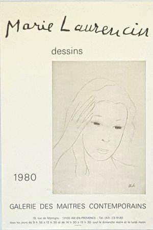 Cartel Laurencin - Dessins  Galerie des Maitres Contemporains