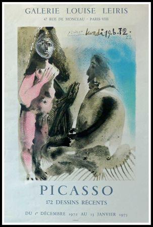 Cartel Picasso - DESSINS PICASSO, GALERIE LOUISE LEIRIS