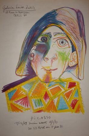 Litografía Picasso - Dessins récents - Louise Leiris 1971