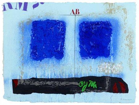 Carborundo Coignard - Deux bleus et noir